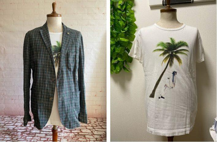 マイケルジャクソンのプリントTシャツとGiannettoのシャツジャケット