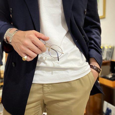 綿100%ジャケットのコーディネートアップ