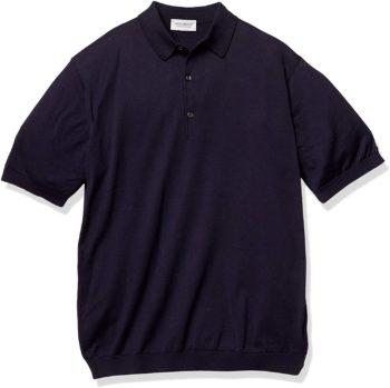 ニット素材のポロシャツ