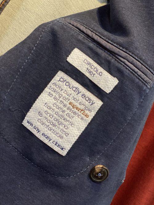 CIRCOLO(チルコロ)のストレッチジャケットの裏地素材感