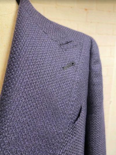 タリアトーレ ウールダブルブレステッドジャケットの素材感