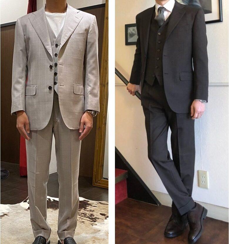 アリストンのオーダースーツ仕立て例2