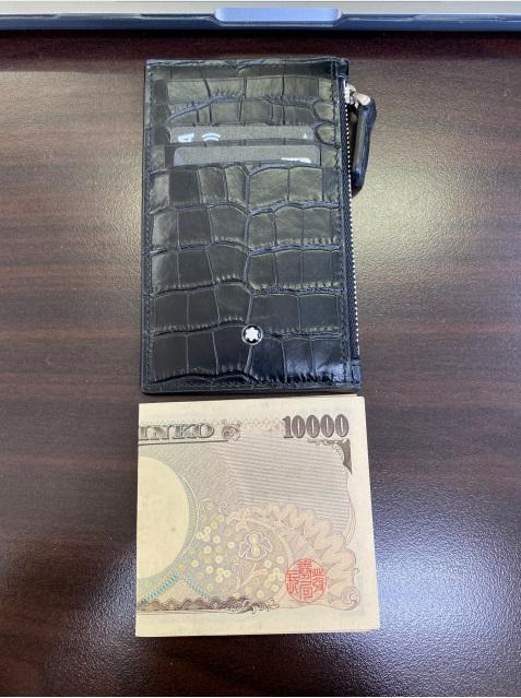 モンブランのコンパクト財布サイズ感